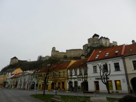 Trencin Castle in the day, Slovakia
